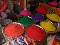 display of holi colours