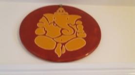 Ganesh - glazed on a plaque